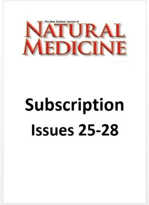 The NZ Journal of Natural Medicine subscription from Issue 25 to issue 28